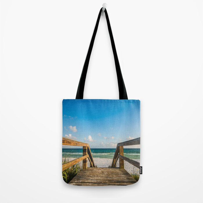 Head to the Beach - Boardwalk Leads to Summer Fun in Florida Tote Bag