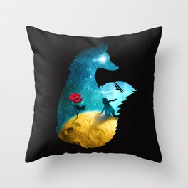 The Most Beautiful Thing (dark version) Throw Pillow