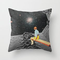 unknown pleasures to Infinity Throw Pillow