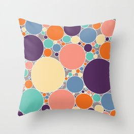 Circles Filled With Fresh Spring Colours #1 Throw Pillow