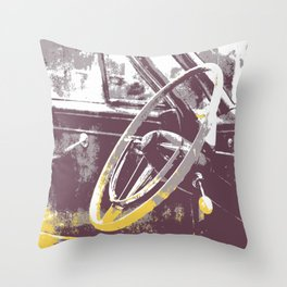 The Big Steer Wheel Throw Pillow