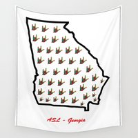 georgia Wall Tapestries featuring ASL - Georgia by EloiseArt
