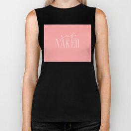 Get Naked pink2 Biker Tank