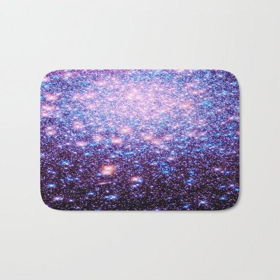 GaLaxY Stars : Pink Purple Blue Bath Mat