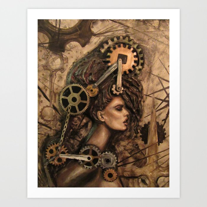 Furiosa, the Steampunk Girl Art Print