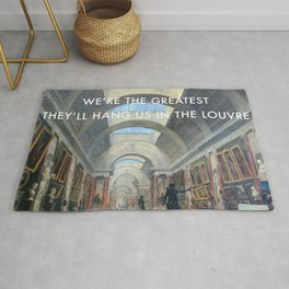 The Greatest in the Grande Galerie du Louvre Rug