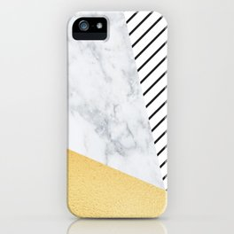 Marble Gold Stripe iPhone Case