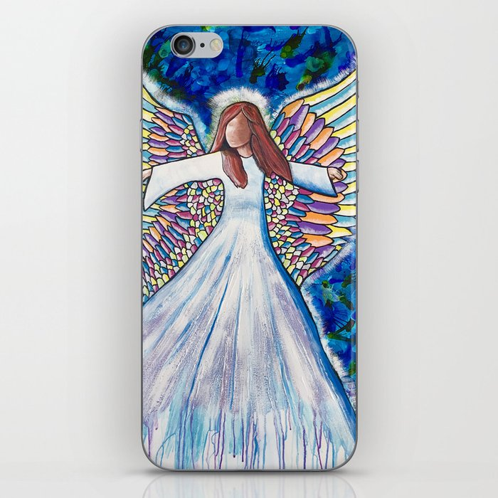 Angel of many colors iPhone Skin