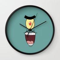 spongebob Wall Clocks featuring PLANKTON SPONGEBOB by September 9