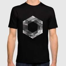 Optical landscape Mens Fitted Tee MEDIUM Black