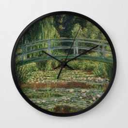 1899-Claude Monet-The Japanese Footbridge and the Water Lily Pool, Giverny-89 x 93 Wall Clock