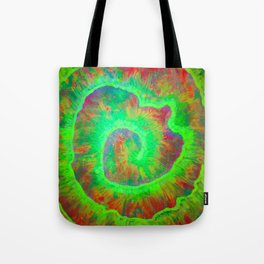 Green Spiral Tote Bag
