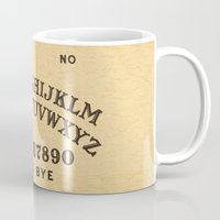 ouija Mugs featuring Ouija Board by Janismarika