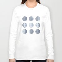 moon phases Long Sleeve T-shirts featuring Moon Phases by Katie Boland
