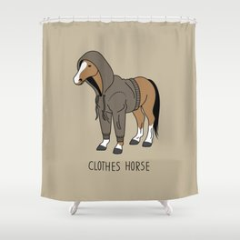 Clothes Horse Shower Curtain