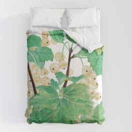 Branch of white currants Comforters