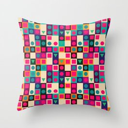 Geometric pattern with shapes Throw Pillow