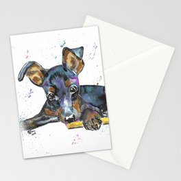 Miniature Pinscher Watercolor Stationery Cards