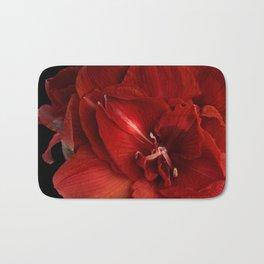 Red Amaryllis Bath Mat