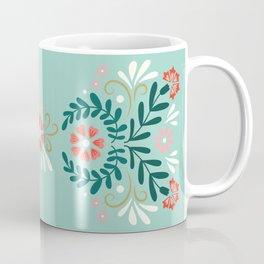 Floral Folk Pattern Coffee Mug