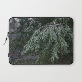 Frozen Evergreen Trees Laptop Sleeve