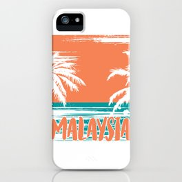 Malaysia Beach iPhone Case