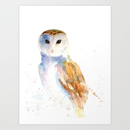 Evening Barn Owl Art Print