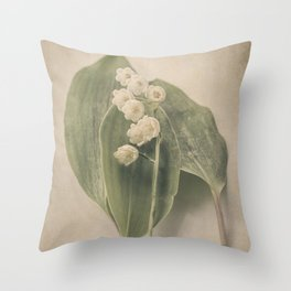 Scents of Spring - Lily of the Valley iv Throw Pillow