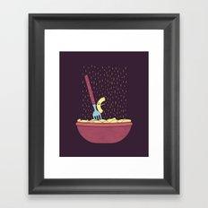 Singing In The Rain Framed Art Print
