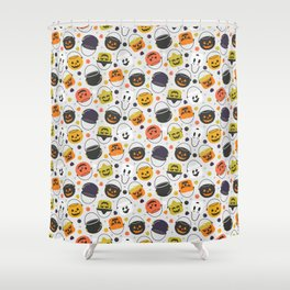 Halloween Candy Buckets Shower Curtain