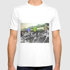 motorqueen White SMALL Mens Fitted Tee
