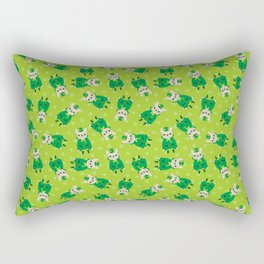 Cute French Bulldog is Feeling Lucky on St. Patrick's Day Rectangular Pillow