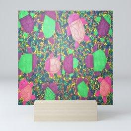 Turtles on Rainbow Rocks Mini Art Print