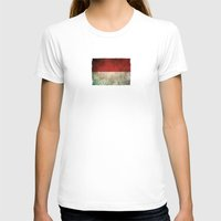 indonesia T-shirts featuring Old and Worn Distressed Vintage Flag of Indonesia by Jeff Bartels