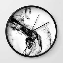 MONOCHROME MARBLE / INDIAN INK IN WATER Wall Clock