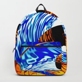 Yin Yang Fire Water Abstract Backpack