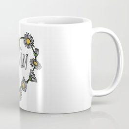 Vegan Daisy Chain Heart Coffee Mug