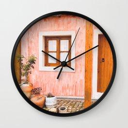 Rhodes, Lindos old village Wall Clock