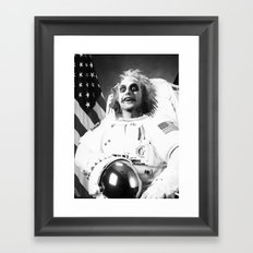 Astronaut Beetle juice Framed Art Print