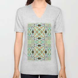 """Seamless pattern in the style of """"printed circuit board"""" Unisex V-Neck"""