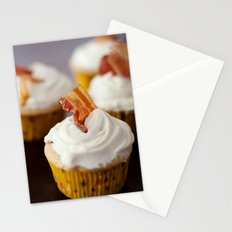 Bacon Maple Cupcake Stationery Cards