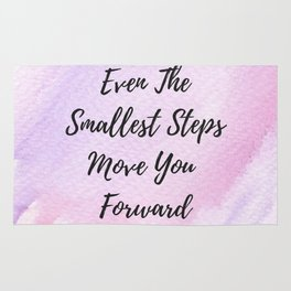Even the smallest steps move you forward Rug