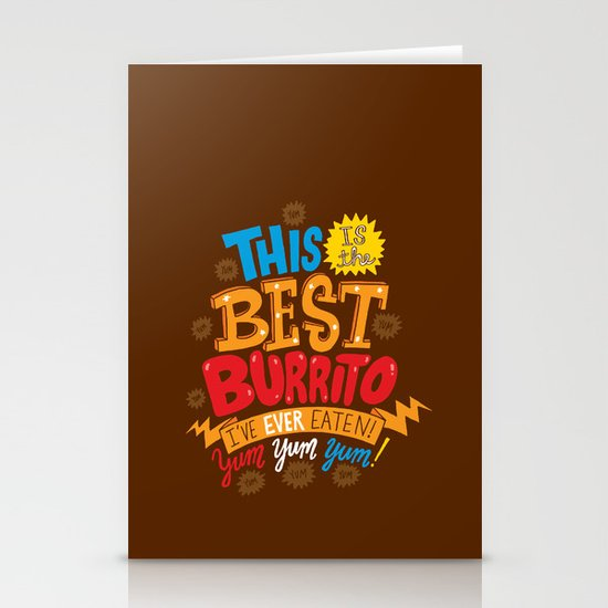 Best Burrito Stationery Cards