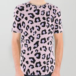 Leopard Print - Lavender Blush All Over Graphic Tee