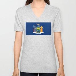 New York State Flag Unisex V-Neck