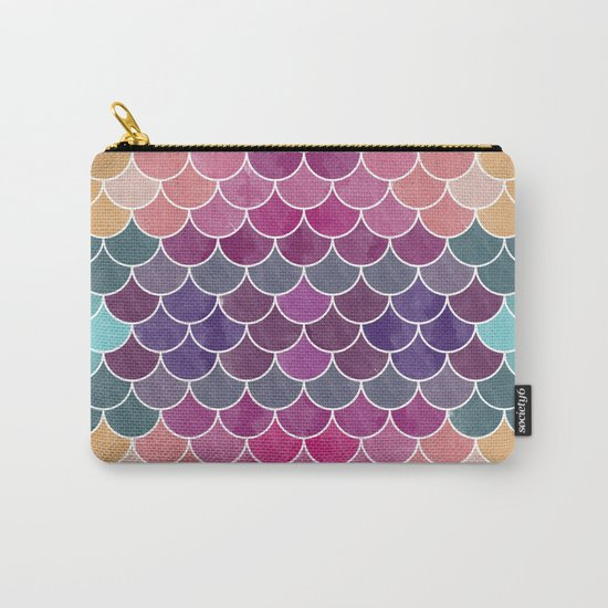 Watercolor Lovely Pattern VV Carry-All Pouch