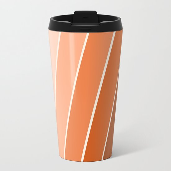 The Skinney - 70's abstract minimal stripe striped pattern retro throwback 1970s art decor Metal Travel Mug