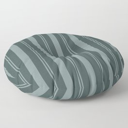 Scarborough Green PPG1145-5 Thick and Thin Vertical Stripes on Night Watch Color of the Year 2019 Floor Pillow