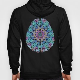 Human Anatomy Brain Psychedelic Gift Trippy Surreal Colorful Hoody