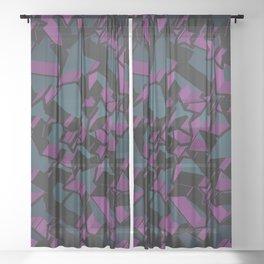 3D Mosaic BG V Sheer Curtain